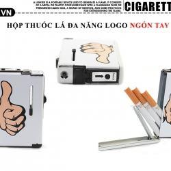 Hộp đựng thuốc lá đa năng in hình cử chỉ ngón tay độc đáo loại 10 điếu - Mã SP: BL09074