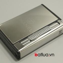 Hộp đựng thuốc lá đa năng in logo Chanel (Bạc) - Mã SP: BL10015