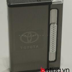 Hộp đựng thuốc lá đa năng in logo Toyota (Đen) - Mã SP: BL10016