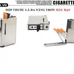 Hộp đựng thuốc lá đa năng Inox bạc loại 10 điếu - Mã SP: BL09075