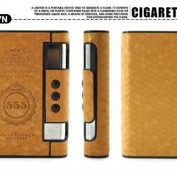 Hộp đựng thuốc lá đa năng kiêm bật lửa khò ba số 5 màu nâu ( Đựng Được 10 Điếu thuốc ) - Mã SP: BL02011