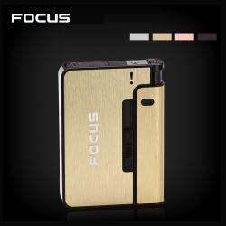 Hộp đựng thuốc lá đa năng kiêm hộp quẹt Nhãn hiệu Focus Yh001 có thể thay đổi hộp quẹt tuỳ ý dễ sử dụng tiện gọn (đựng tối đa 10 điếu thuốc ) - Mã SP: BL01871