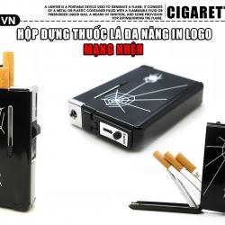 Hộp đựng thuốc lá đa năng kiêm hộp quẹt Spider-Man lửa khè đen tuyền - Mã SP: BL01992