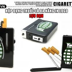 Hộp đựng thuốc lá đa năng kiêm quẹt khè có hình trái bom - Mã SP: BL02000