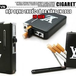Hộp đựng thuốc lá đa năng LV kiêm lửa khè đen tuyền - Mã SP: BL01993