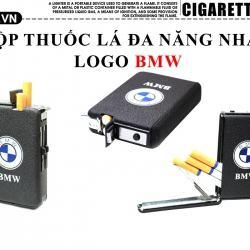 Hộp đựng thuốc lá đa năng màu đen nhám logo BMW - Mã SP: BL09107