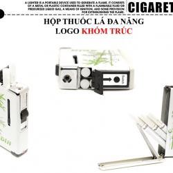 Hộp đựng thuốc lá đa năng Sdin in hình khóm trúc mộc mạc loại 10 điếu - Mã SP: BL09073