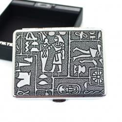 Hộp đựng thuốc lá da teampistol với hoa văn của người ai cập cổ đại ngoài vỏ hộp ( loại 16 điếu ) - Mã SP: BL01633