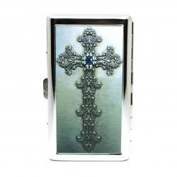Hộp đựng thuốc lá dài bằng kim loại hình chữ thập - Mã SP: BL09005