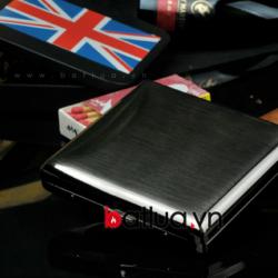 Hộp đựng thuốc lá Mr.Smocker thép không rỳ bạc trắng ( loại 20 điều ) - Mã SP: BL03177