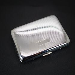Hộp đựng thuốc lá teampistol chất liệu bằng i nox không rỉ sét với đường kẻ đẹp mắt ( loại 16 điếu) - Mã SP: BL01647