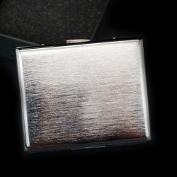 Hộp đựng thuốc lá teampistol kim loại mầu bạc trơn giản dị ( loại 16 điếu) - Mã SP: BL01638