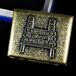 Hộp đựng thuốc lá teampistol mầu đồng sang trọng in nổi hình cổ điển ( loại 16 điếu) - Mã SP: BL01650