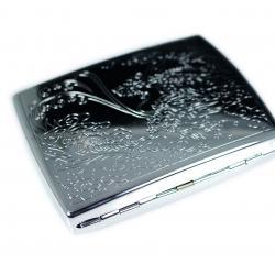 Hộp đựng thuốc màu bạc khắc vân hình con rồng phun nước (loại 18 điếu) - Mã SP: BL01618