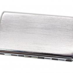 Hộp đựng thuốc màu trắng vân xước cá tính (loại 14 điếu) - Mã SP: BL01554
