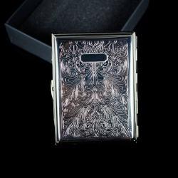 Hộp đựng thuốc MR.SMOKE crôm họa tiết hoa văn cổ điển (loại 16 điếu) - Mã SP: BL01622