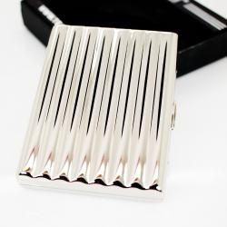 Hộp đựng thuốc Team PisTol Inox lượn sóng sáng bóng phong cách (loại 16 điếu) - Mã SP: BL01547