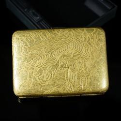 Hộp đựng thuốc teampistol chất liệu đồng khắc hình con hổ uy dũng - Mã SP: BL01615