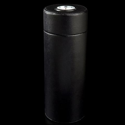 Ống giữ ẩm Cigar Cohiba bọc da mẫu ngắn màu đen