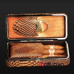 Trọn bộ hộp đựng xì gà kèm dao cắt và bật lửa chính hãng COHIBA - Mã SP: BL03011