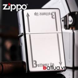 Zippo chính hãng 2 mặt đáy 24383 - Mã SP: BL03023