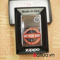 Zippo chính hãng 260 phiên bản chiến tranh việt nam mầu bạc - Mã SP: BL03071