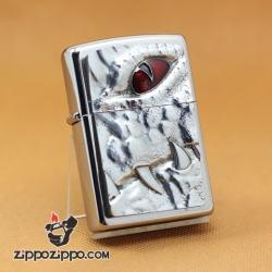 Zippo Chính Hãng Bạc Vỏ Đúc Hình Mắt Và Nanh Cá Sấu Giới Hạn 1000 Mẫu - Mã SP: ZPC1035