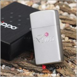 Zippo chính hãng bản hẹp Diva đính ngọc - Mã SP: BL03044