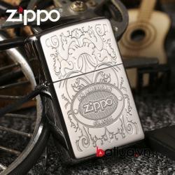 Zippo Chính hãng khắc nổi logo mầu bạc 24751 - Mã SP: BL03036