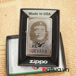 zippo chính hãng mầu bạc khắc 2 mặt hình Che - Mã SP: BL03078