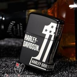 Zippo Chính Hãng Màu Đen Harley Davidson No 1 - Mã SP: ZPC01021