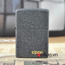 Zippo Chính Hãng màu xam sơn sần in logo zippo - Mã SP: BL03216