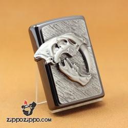 Zippo Chính Hãng Phiên Bản Châu Âu Hình Hộp Sọ Con Cọp Giới Hạn Chỉ 777 Mẫu - Mã SP: ZPC1027