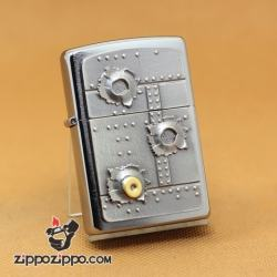 Zippo Chính Hãng Phiên Bản Châu Âu Hình Viên Đạn Găm Vào Thép - Mã SP: ZPC1042