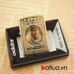 Zippo chính hãng Phiên bản đồng khắc 2 mặt - Mã SP: BL03064