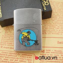 zippo cổ mỹ chính hãng mẫu bạc xước sản xuất năm 1989 - Mã SP: BL03119