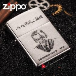 Zippo in hình ông tổ zippo 200FL - Mã SP: BL03020