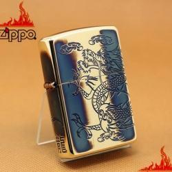 Zippo Rồng Cuốn Quanh Xuất nhật Đồng Mờ - Mã SP: ZPC1117